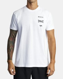 0 EVERLAST STACK SHORT SLEEVE TEE White R305057 RVCA