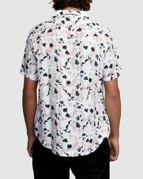 1 Beat Print Short Sleeve Shirt White R305190 RVCA