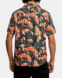 2 Beat Print Short Sleeve Shirt Blue R305190 RVCA