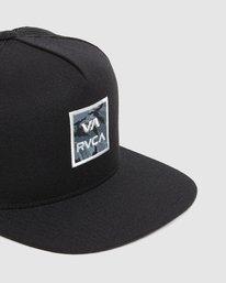 4 VA ATW PRINT TRUCKER CAP Black R305576 RVCA