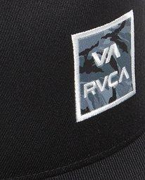 5 VA ATW PRINT TRUCKER CAP Black R305576 RVCA