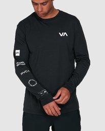 0 All Out Rvca Long Sleeve Tee Black R307046 RVCA