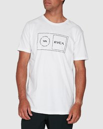 0 Sport Balance Box Short Sleeve Tee White R307049 RVCA