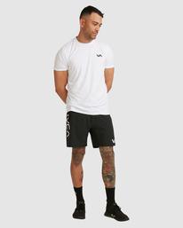 "5 Fight Scrapper Athletic Shorts 17"" Black R307311 RVCA"