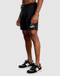 "0 Fight Scrapper Athletic Shorts 17"" Black R307311 RVCA"