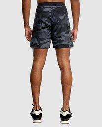 "2 Fight Scrapper Athletic Shorts 17"" Grey R307311 RVCA"