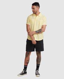4 Kevin Spanky Long   KSL Easy Short Sleeve Shirt Yellow R315181 RVCA
