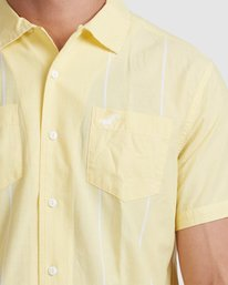 3 Kevin Spanky Long   KSL Easy Short Sleeve Shirt Yellow R315181 RVCA
