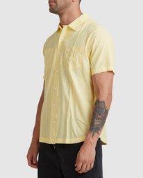1 Kevin Spanky Long   KSL Easy Short Sleeve Shirt Yellow R315181 RVCA