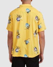 2 Cliffs Floral Short Sleeve Shirt White R315182 RVCA