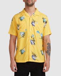 0 Cliffs Floral Short Sleeve Shirt White R315182 RVCA