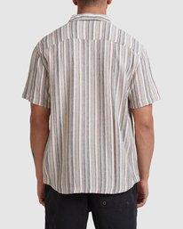 2 Beat Stripe Short Sleeve Shirt Green R315183 RVCA