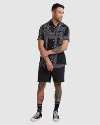 4 Yari Short Sleeve Shirt Black R315184 RVCA