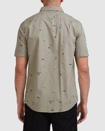 2 Tropicalia Short Sleeve Shirt Green R315185 RVCA