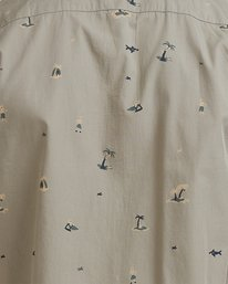 3 Tropicalia Short Sleeve Shirt Green R315185 RVCA