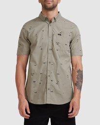 0 Tropicalia Short Sleeve Shirt Green R315185 RVCA