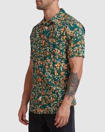 1 Baritone Short Sleeve Shirt Orange R315188 RVCA