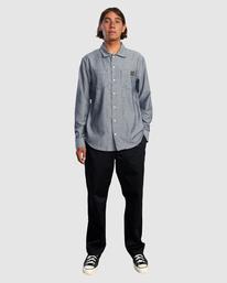 3 Day Shift Long Sleeve Shirt Blue R315189 RVCA