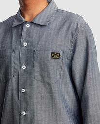 2 Day Shift Long Sleeve Shirt Blue R315189 RVCA