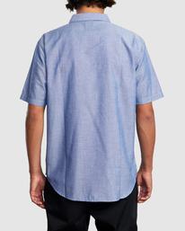 1 DAY SHIFT STRIPE SHORT SLEEVE SHIRT Blue R315190 RVCA