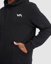 3 VA Sport | VA Tech Zip-Up Hoodie Black R315438 RVCA