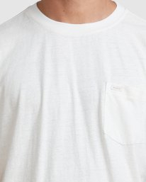 3 Hemp Natural Short Sleeve Tee Beige R317041 RVCA