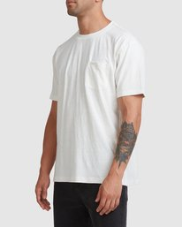 1 Hemp Natural Short Sleeve Tee Beige R317041 RVCA