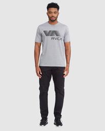 5 VA RVCA BLUR SHORT SLEEVE PERFORMANCE TEE Grey R317072 RVCA
