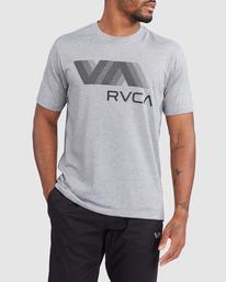 0 VA RVCA BLUR SHORT SLEEVE PERFORMANCE TEE Grey R317072 RVCA