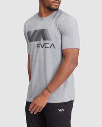 1 VA RVCA BLUR SHORT SLEEVE PERFORMANCE TEE Grey R317072 RVCA