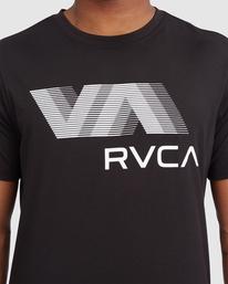 3 VA RVCA BLUR SHORT SLEEVE PERFORMANCE TEE Black R317072 RVCA