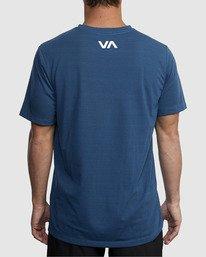 2 VA RVCA BLUR SHORT SLEEVE PERFORMANCE TEE Blue R317072 RVCA