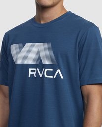 3 VA RVCA BLUR SHORT SLEEVE PERFORMANCE TEE Blue R317072 RVCA