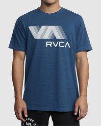 0 VA RVCA BLUR SHORT SLEEVE PERFORMANCE TEE Blue R317072 RVCA