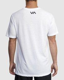 2 VA RVCA BLUR SHORT SLEEVE PERFORMANCE TEE White R317072 RVCA