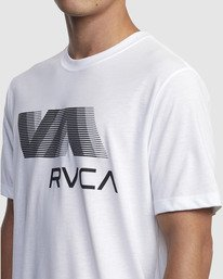 3 VA RVCA BLUR SHORT SLEEVE PERFORMANCE TEE White R317072 RVCA