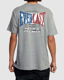 0 EVERLAST STACK PATCH SHORT SLEEVE TEE Grey R317080 RVCA