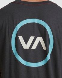 3 VA Mod Short Sleeve Tee Black R317085 RVCA