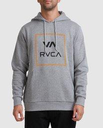 0 VA ALL THE WAY HOODIE Grey R317152 RVCA