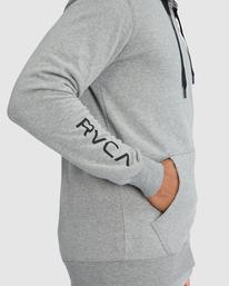3 SWIFT ZIP UP HOODIE PATCH Grey R317159 RVCA