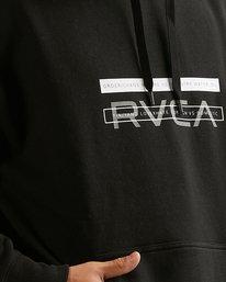 3 VA BAR HOODIE Black R317161 RVCA