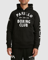 0 PARILLO BOXING CLUB HOODIE Black R317165 RVCA
