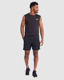 5 VA Sport | Sport Vent Workout Muscle Tank Top Black R318001 RVCA