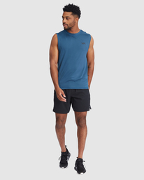 5 VA Sport | Sport Vent Workout Muscle Tank Top Blue R318001 RVCA