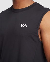 4 VA Sport | Sport Vent Workout Muscle Tank Top Black R318001 RVCA