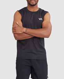 0 VA Sport | Sport Vent Workout Muscle Tank Top Black R318001 RVCA
