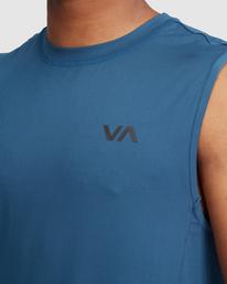 4 VA Sport | Sport Vent Workout Muscle Tank Top Blue R318001 RVCA