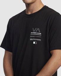 3 Reflective RVCA Balance Box Short Sleeve Tee Black R318043 RVCA
