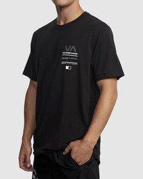 1 Reflective RVCA Balance Box Short Sleeve Tee Black R318043 RVCA