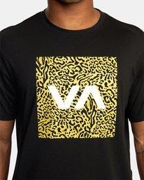3 VA BOX FILL SHORT SLEEVE TEE Black R318044 RVCA